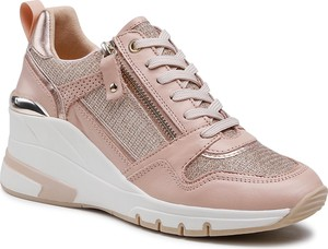 Buty sportowe Caprice sznurowane ze skóry ekologicznej