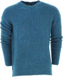 Niebieski sweter Roberto Collina z bawełny