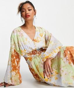 Sukienka Asos z dekoltem w kształcie litery v maxi