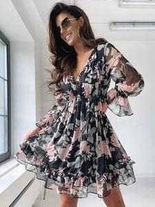 Sukienka Versada z długim rękawem z tkaniny mini