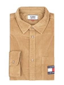 Pomarańczowa koszula Tommy Jeans ze sztruksu