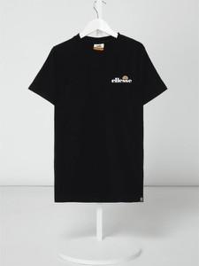 Czarna koszulka dziecięca Ellesse z bawełny