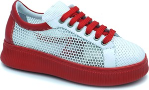Sneakersy Lanqier z płaską podeszwą sznurowane