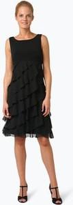 Czarna sukienka Swing bez rękawów trapezowa z okrągłym dekoltem