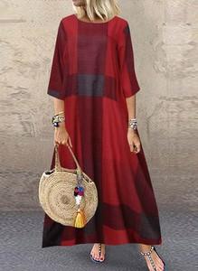 Czerwona sukienka Arilook oversize maxi