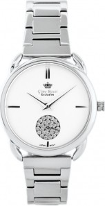 ZEGAREK DAMSKI Zegarek GINO ROSSI E11148B-3C1 EXCLUSIVE Srebrny