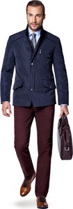 Granatowa kurtka LANCERTO z tkaniny w stylu casual