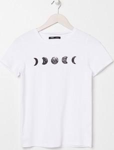 T-shirt Sinsay z okrągłym dekoltem z bawełny