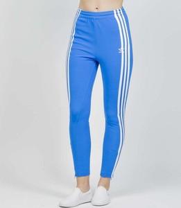 Niebieskie spodnie damskie Adidas, kolekcja wiosna 2020
