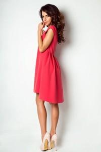 Sukienka Ivon z krótkim rękawem asymetryczna midi