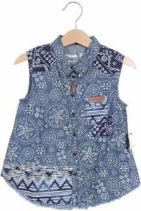 Niebieska koszula dziecięca Desigual z jeansu