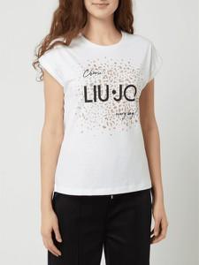 T-shirt Liu-Jo w młodzieżowym stylu z bawełny z krótkim rękawem