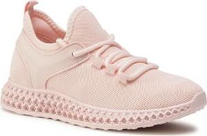 Różowe buty sportowe DeeZee z płaską podeszwą sznurowane