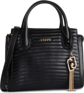 Czarna torebka Liu-Jo do ręki średnia pikowana