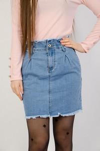 Niebieska spódnica Olika w street stylu z jeansu