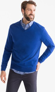 Niebieski sweter CANDA w stylu casual