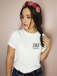 Bluzka Time For Fashion z krótkim rękawem z okrągłym dekoltem w młodzieżowym stylu