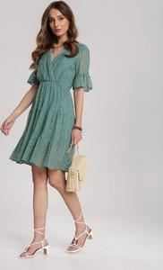 Zielona sukienka Renee rozkloszowana