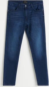 Granatowe jeansy Reserved w stylu casual z jeansu