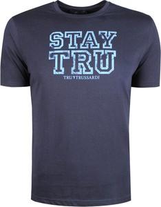 Niebieski t-shirt Trussardi