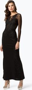 Czarna sukienka Lipsy maxi z okrągłym dekoltem