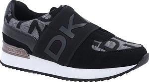 Czarne buty sportowe DKNY ze skóry w sportowym stylu