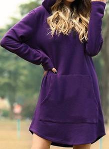 Sukienka Cikelly mini z długim rękawem w stylu casual