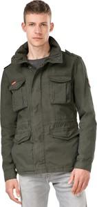 Zielona kurtka Superdry z bawełny