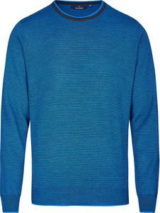 Niebieski sweter Daniel Hechter z wełny w stylu casual