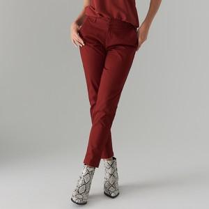 Czerwone spodnie Mohito z bawełny