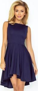 Niebieska sukienka NUMOCO bez rękawów mini z okrągłym dekoltem