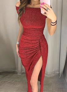 Sukienka Cikelly maxi z okrągłym dekoltem