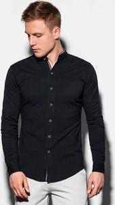 Czarna koszula Ombre