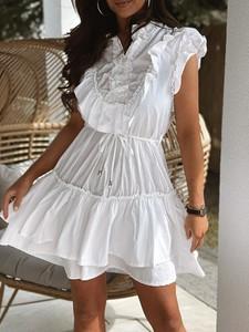 Sukienka Versada trapezowa z bawełny mini