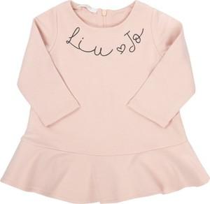 Różowa bluzka dziecięca Liu Jo White dla dziewczynek