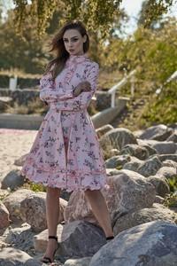 Sukienka FLORENCE z długim rękawem w stylu casual midi