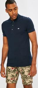 Granatowa koszulka polo Lacoste z krótkim rękawem