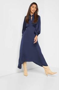 Niebieska sukienka ORSAY w stylu casual z golfem z długim rękawem