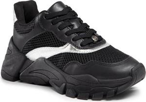 Czarne buty sportowe Eva Longoria sznurowane