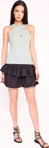 Czarna spódnica Byinsomnia z tkaniny mini