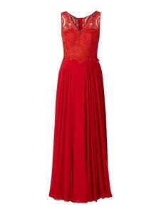 Czerwona sukienka Paradi rozkloszowana z szyfonu
