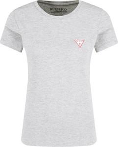 T-shirt Guess Jeans w stylu casual z krótkim rękawem z okrągłym dekoltem