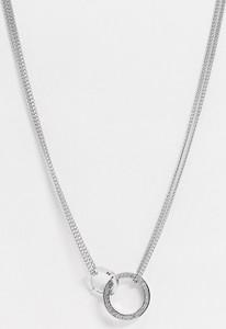 Tommy Hilfiger – Naszyjnik w kolorze srebra z zawieszką-Srebrny