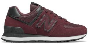 Czerwone buty sportowe New Balance z zamszu