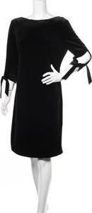 Czarna sukienka Javier Simorra z długim rękawem
