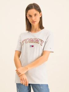 T-shirt Tommy Jeans z krótkim rękawem z okrągłym dekoltem w młodzieżowym stylu
