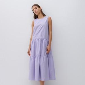 Fioletowa sukienka Reserved trapezowa bez rękawów