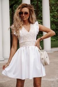 Sukienka Shopaholics Dream rozkloszowana mini z dekoltem w kształcie litery v