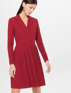 Czerwona sukienka Mohito w stylu casual z długim rękawem