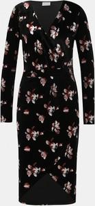 Czarna sukienka Vila z długim rękawem midi